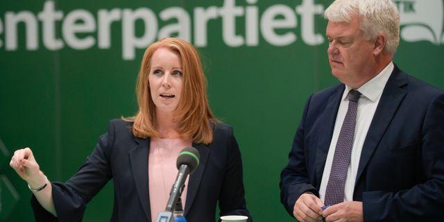 Annie Lööf och Michael Arthursson. Janerik Henriksson/TT / TT NYHETSBYRÅN