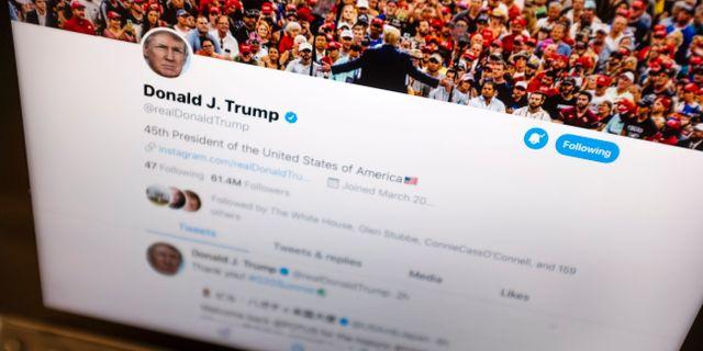 Donald Trumps twittersida.  J. David Ake / TT NYHETSBYRÅN/ NTB Scanpix