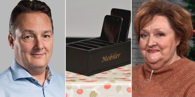 Mikael Lindkvist, mobillådan och Marianne Mörck. M3/TT