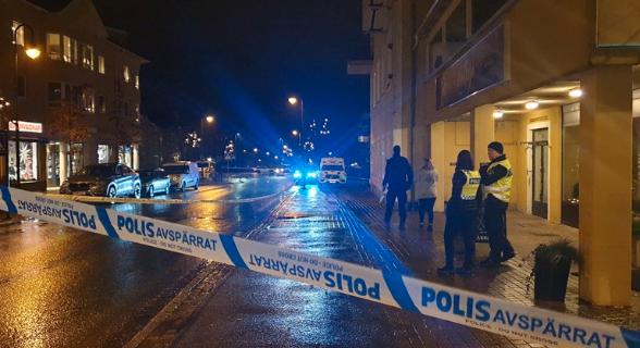 Avspärrningen i Gislaved.  Dejana Pasic/P4 Jönköping
