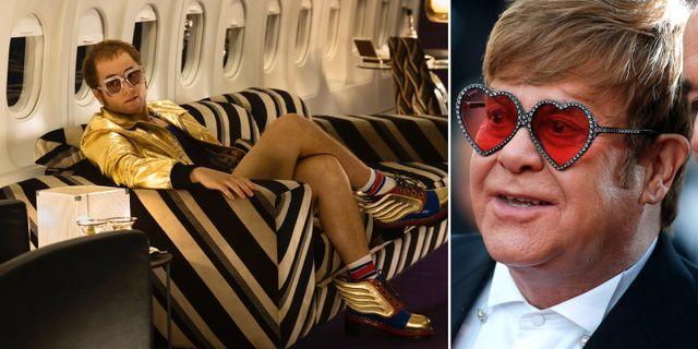 "Taron Egerton som Elton John i ""Rocketman""/Elton John. TT"