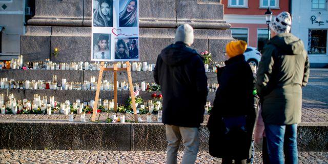 Minnesceremoni för Wilma Andersson i Uddevalla. Adam Ihse/TT / TT NYHETSBYRÅN