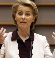 EU-kommissionens ordförande Ursula von der Leyen. Arkivbild. Francois Walschaerts / TT NYHETSBYRÅN