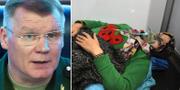 Ryska försvarsdepartementets talesperson Igor Konasjenkov uttalar sig om den misstänkta gasattacken. TT