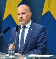 Justitie- och migrationsminister Morgan Johansson (S).  Fredrik Sandberg/TT / TT NYHETSBYRÅN