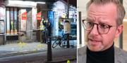 Mordplatsen i Malmö/Mikael Damberg. TT