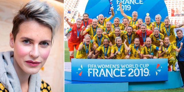 Nina Rung/damlandslaget i fotboll. TT.