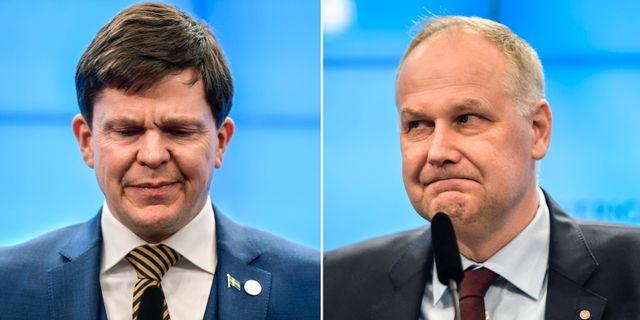 Andreas Norlén och Jonas Sjöstedt. TT