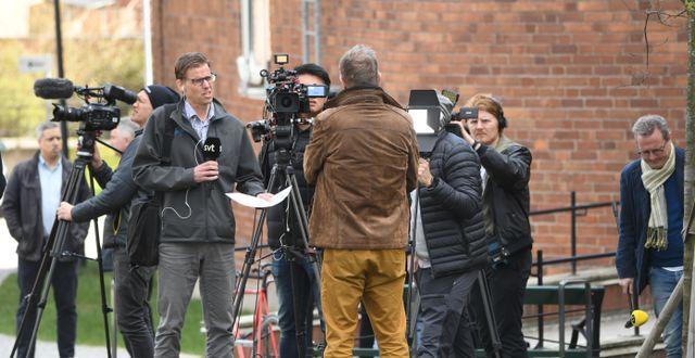 Anders Tegnell under en presskonferens. Fredrik Sandberg/TT / TT NYHETSBYRÅN