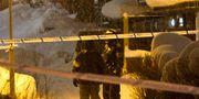 Polisinsatsen i Sandviken på måndagskvällen. TT NYHETSBYRÅN / TT NYHETSBYRÅN