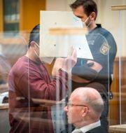 Eyad A inne i rättssalen Thomas Lohnes / TT NYHETSBYRÅN