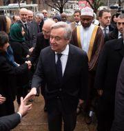 António Guterres vid en sammankomst för att minnas de som dödades i moskéattackerna i Christchurch i Nya Zeeland i mars. Arkivbild. Mark Lennihan / TT NYHETSBYRÅN/ NTB Scanpix