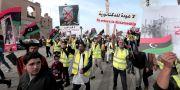 Demonstranter mot Khalifa Hifter i Libyen. Hazem Ahmed / TT NYHETSBYRÅN/ NTB Scanpix