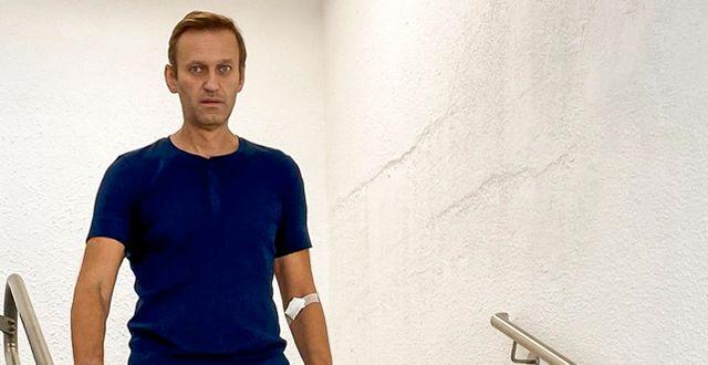 Navalnyj under sin rehabilitering.  TT NYHETSBYRÅN