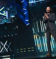 Arkivbild: Skådespelaren Keanu Reeves lånar ut sin röst till en av karaktärerna i Cyberpunk 2077 (9 juni 2019). Casey Rodgers / TT NYHETSBYRÅN