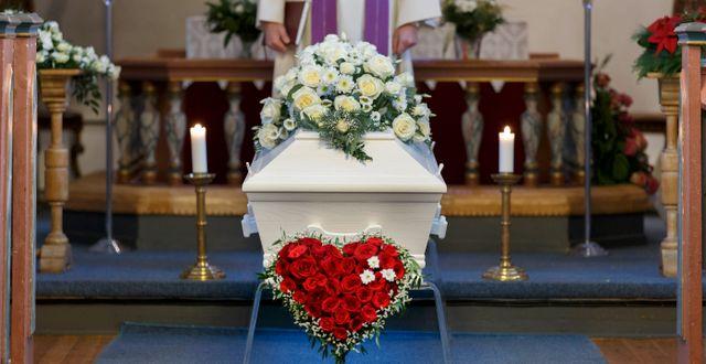 Begravningsceremoni. Kallestad, Gorm / TT NYHETSBYRÅN