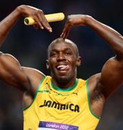 Usain Bolt och Karsten Warholm. Bildbyrån
