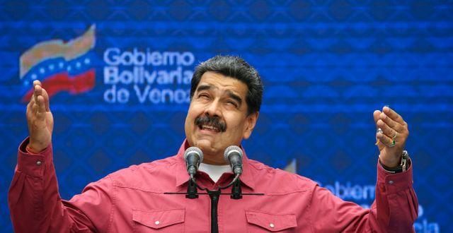 Nicolás Maduro.  Ariana Cubillos / TT NYHETSBYRÅN