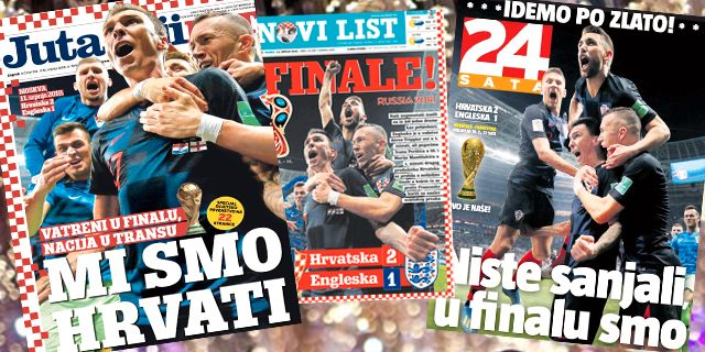 Kroatiska medier hyllar sitt landslag efter segern mot England.