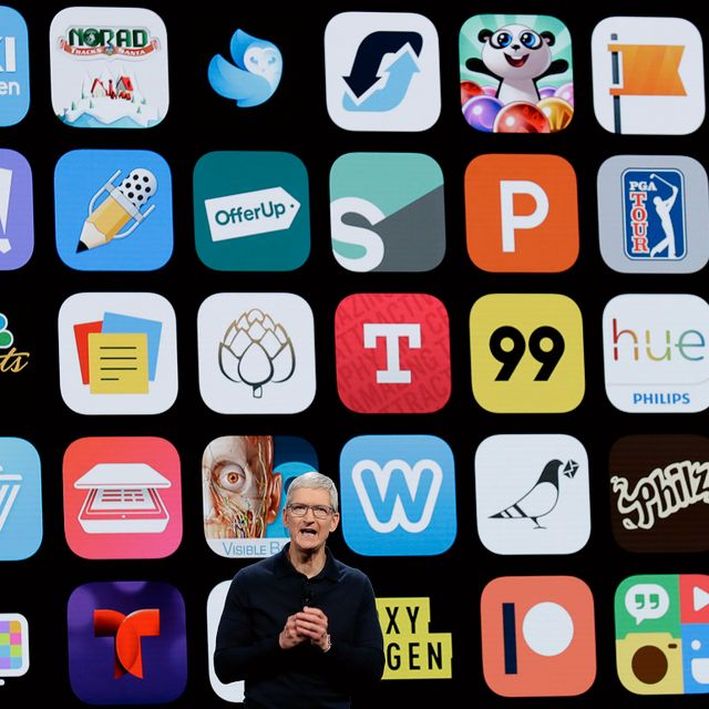In this June 4, 2018, file photo, Apple CEO Tim Cook speaks during an announcement of new products at the Apple Worldwide Developers Conference in San Jose, Calif. Marcio Jose Sanchez / TT NYHETSBYRÅN