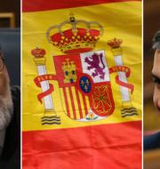 Spaniens premiärminister Mariano Rajoy och oppositionsledaren Pedro Sánchez. TT / AP.