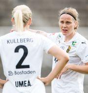Umeås Sanna Kullberg och Lisa Dahlkvist. ANDREAS L ERIKSSON / BILDBYRÅN