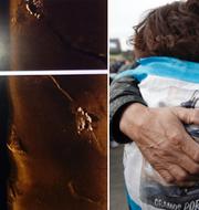 Argentinska marinens bilder. Släktingar till besättningen sörjer på årsdagen av ubåtens försvinnande.  Argentinska marinen/TT