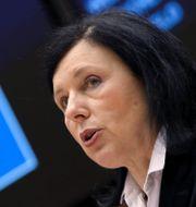 EU-kommissionens vice ordförande Vera Jourova.  Yves Herman / TT NYHETSBYRÅN