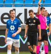 Birmančević visas ut i en match i Europa League. Svein Ove Ekornesvåg / TT NYHETSBYRÅN