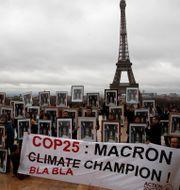 Protester mot Macrons klimatpolitik i december 2019. Francois Mori / TT NYHETSBYRÅN