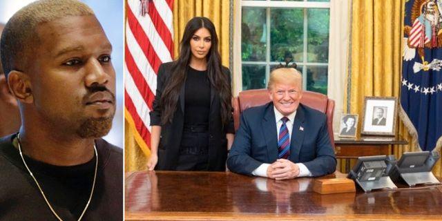 Kanye West/Kim Kardashian och Donald Trump. TT