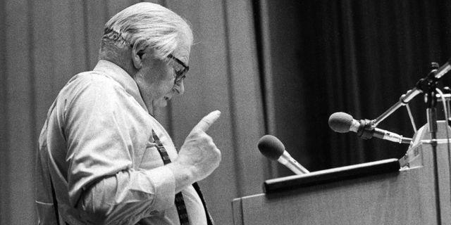 Gunnar Sträng var finansminister då den nuvarande mervärdesskatten skapades.  Gunnar Lantz / TT NYHETSBYRÅN