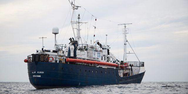 Arkivbild på fartyget Alan Kurdi. Fabian Heinz / TT NYHETSBYRÅN/ NTB Scanpix