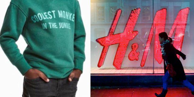Tröjan pojken hade på sig/H&M. Skärmdump från H&M/TT