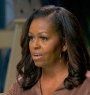Michelle Obama under nattens tal. TT NYHETSBYRÅN