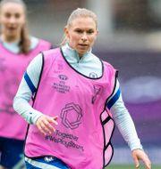 Jonna Andersson i Chelsea-tröjan.  MICHAEL ERICHSEN / BILDBYRÅN