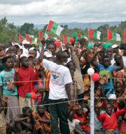 Demonstrationer i samband med valet i Burundi. STR / TT / NTB Scanpix