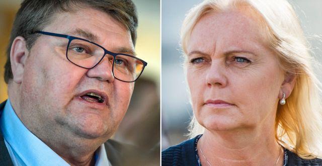 Europaparlamentarikerna Peter Lundgren och Kristina Winberg. Janerik Henriksson/TT, Emil Langvad/TT