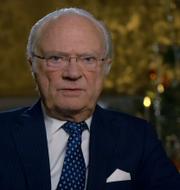 Kungen  håller jultal. SVT