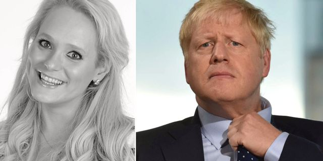 Jennifer Arcuri och Boris Johnson. TT