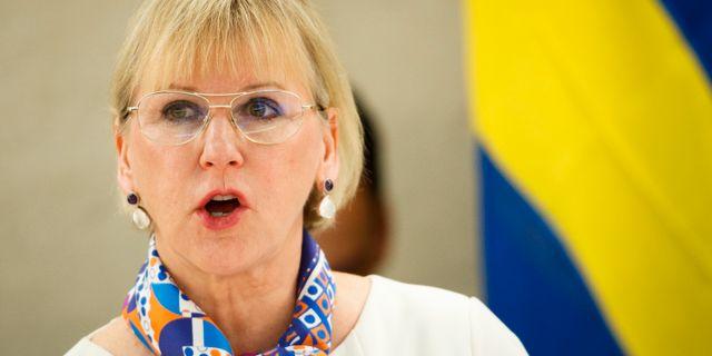 Utrikesminister Margot Wallström (S), arkivbild. Valentin Flauraud / TT NYHETSBYRÅN/ NTB Scanpix