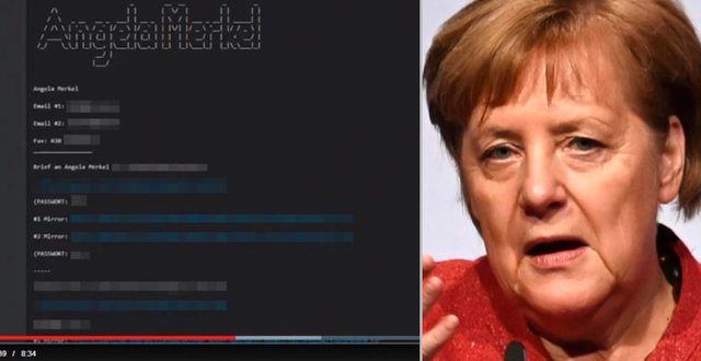 Uppgifter som spreds om Angela Merkel. TT