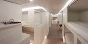 Våningssängskonceptet som Airbus utvecklat till rutten blir inte av.  Airbus.