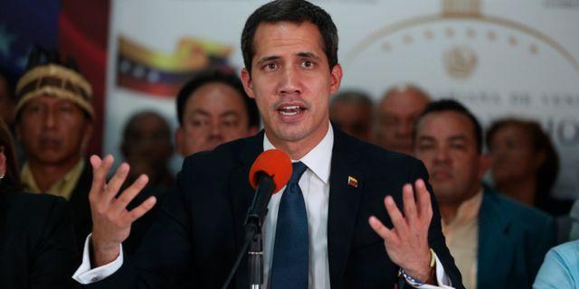 Juan Guaidó. Arkivbild. Martin Mejia / TT NYHETSBYRÅN