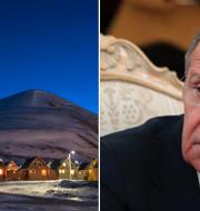 Longyearbyen på Svalbard /Rysslands utrikesminister Sergej Lavrov. TT