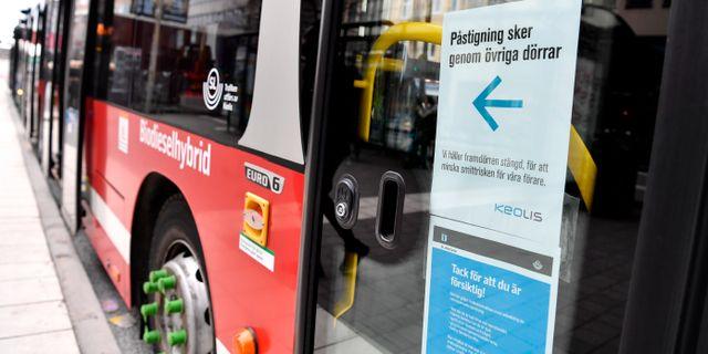 En SL-buss. Jessica Gow/TT / TT NYHETSBYRÅN