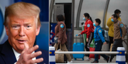 Donald Trump / resenärer i Peking TT