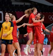 Bild från matchen.  Stian Lysberg Solum / TT NYHETSBYRÅN