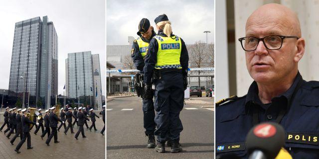 Gothia Towers / poliser vid Landvetter / Erik Nord TT