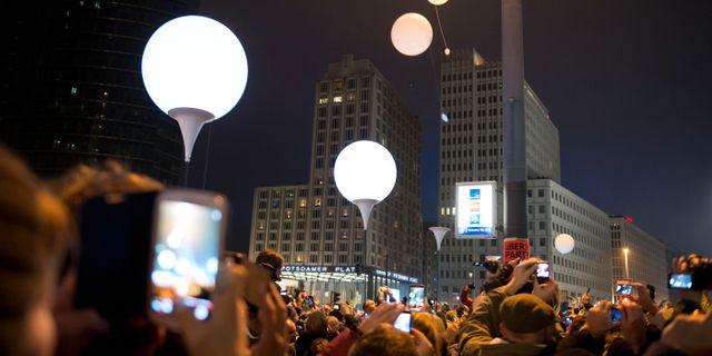 Ballonger fyllde himlen over berlin